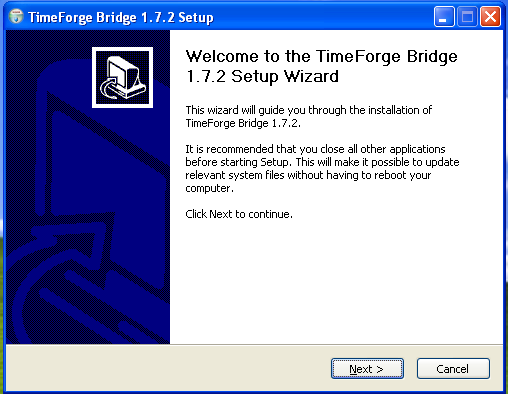 Install the TimeForge Accounting Bridge software