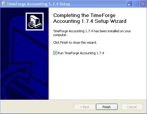 Finish the TimeForge Accounting Set up