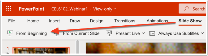 Open Powerpoint file in browser