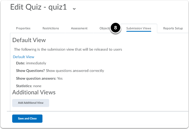 submissions view tab under edit quiz page