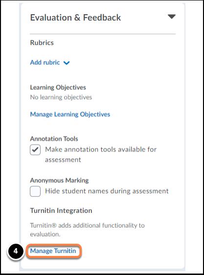 Evaluation & Feedback tab