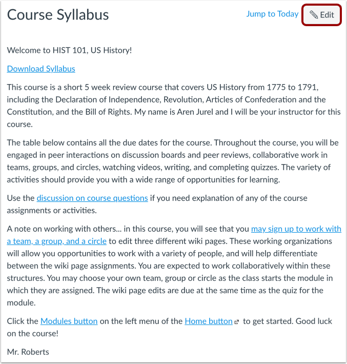 View Syllabus Description