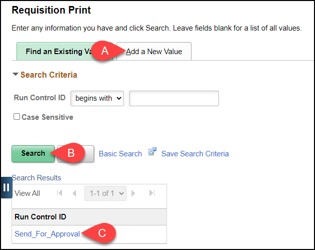Requisition print screen