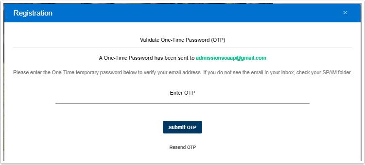 Validate One-Time Password