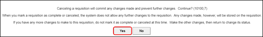 cancellation confirmation
