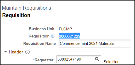 Copy Requisition ID