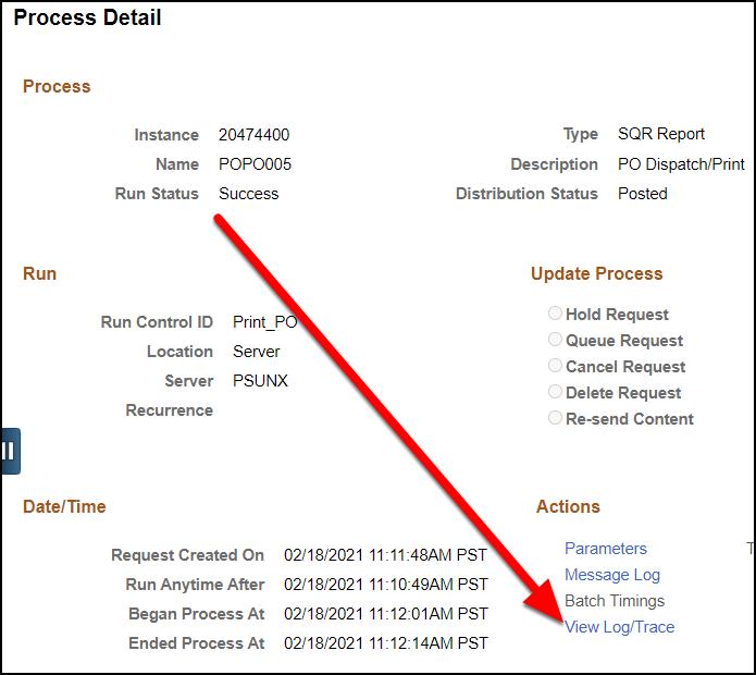 process detail screen