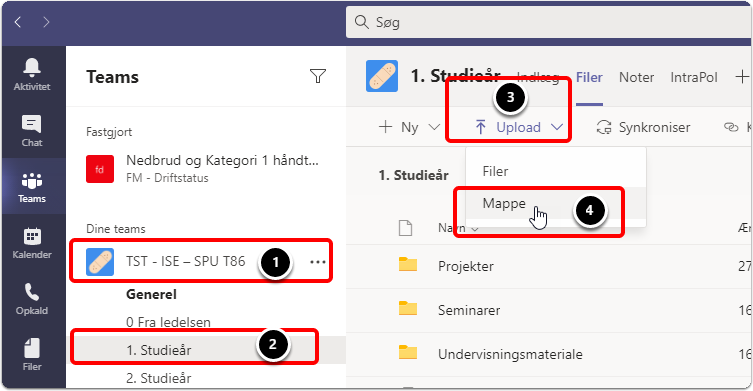 Kopier/flyt/slet/omdøb mapper i Teams via SharePoint   Teams for medarbejdere   Vejledninger – Google Chrome