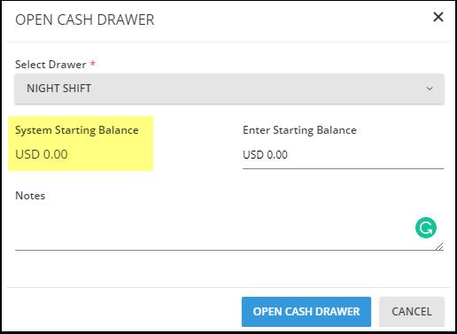 Avon clear-thinking - Create / Modify Cash Drawers - Google Chrome