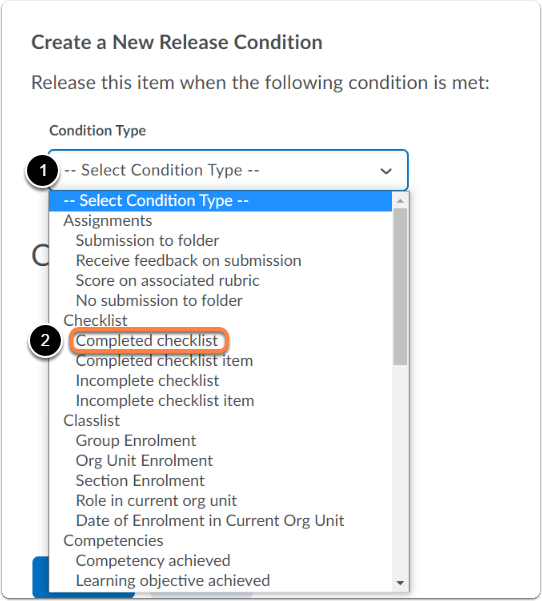 Select Condition Type