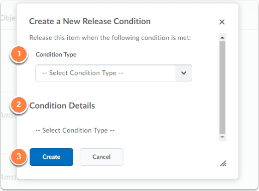 Create a New Release Condition