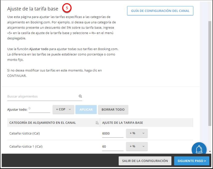 DEMO - El Bolsón - Configuración - Myallocator (Distribución) - Configuración del canal - Google Chrome