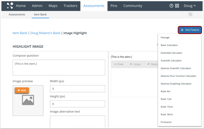 Open Add Feature Tool