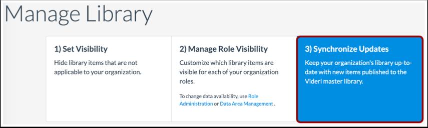 Synchronize Library Updates