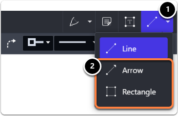 Choose type of line (Arrow or Triangle)