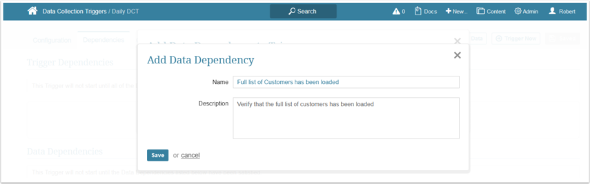 Define the basics for the New Data Dependency