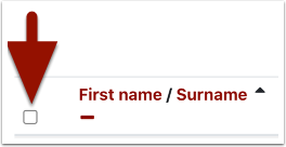 student selection check box