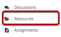 Image of the Resources button