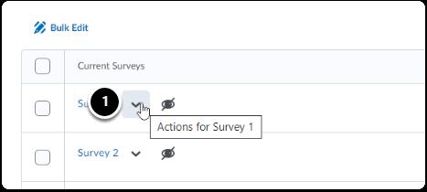 Survey Quickmenu