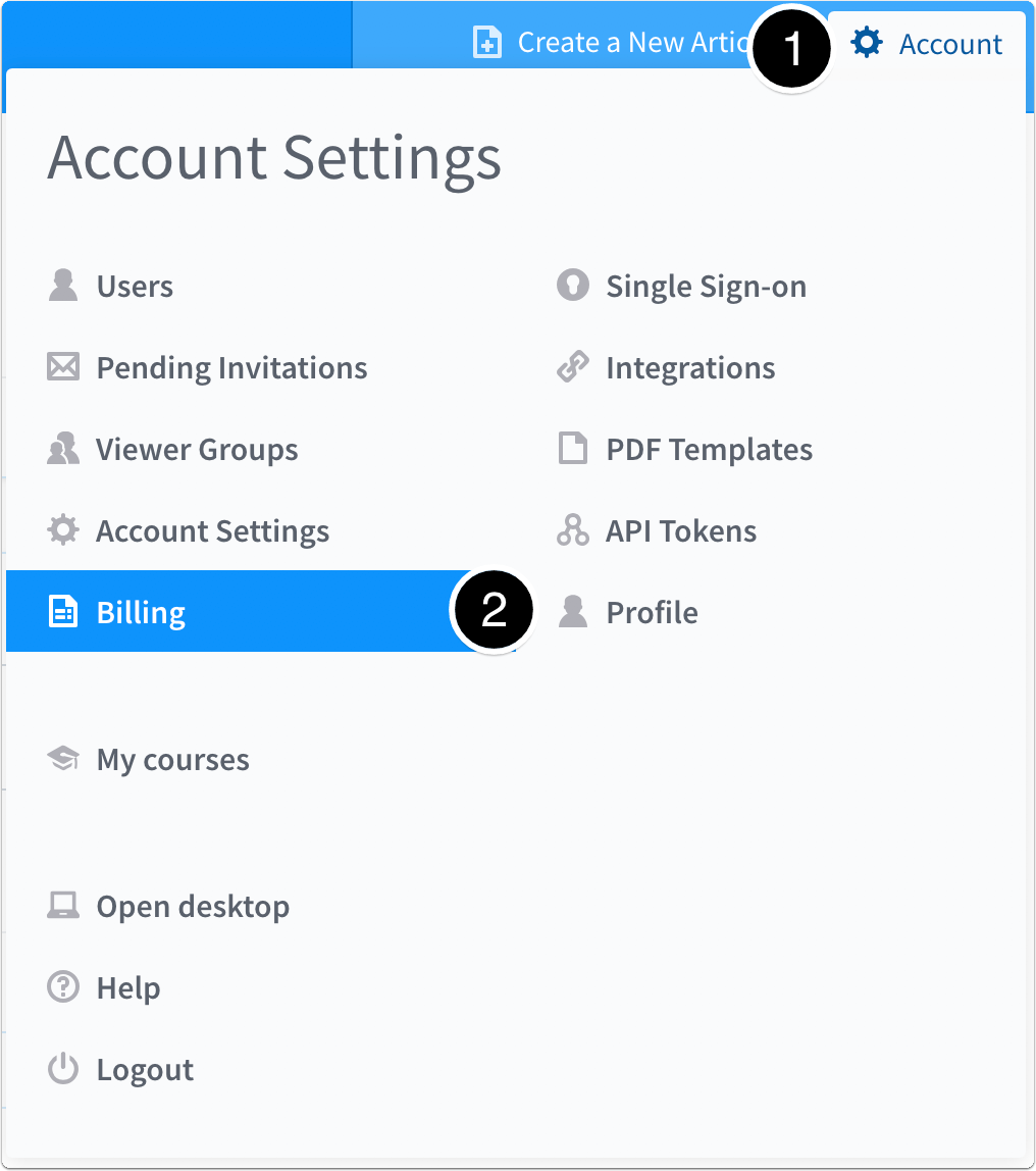 Account > Billing