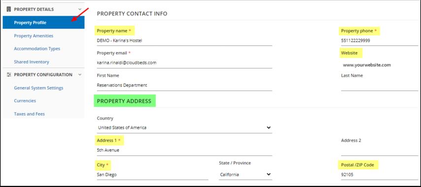 DEMO - Karina's Hostel - Property Profile - Google Chrome