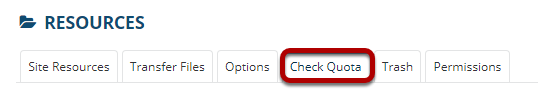 Image of the Check Quota button.