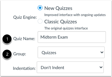 Enter Quiz Details