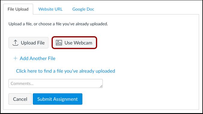 Use Webcam