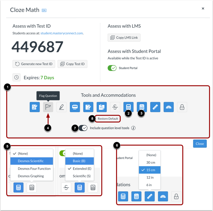 Configure Enhanced Tools and Accommodations
