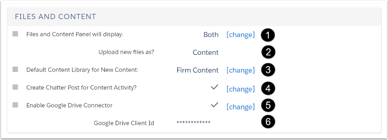 How can Files and Content be customized?