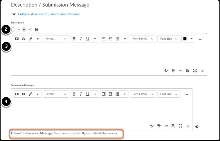 (Optional) Add a description / Submission Message