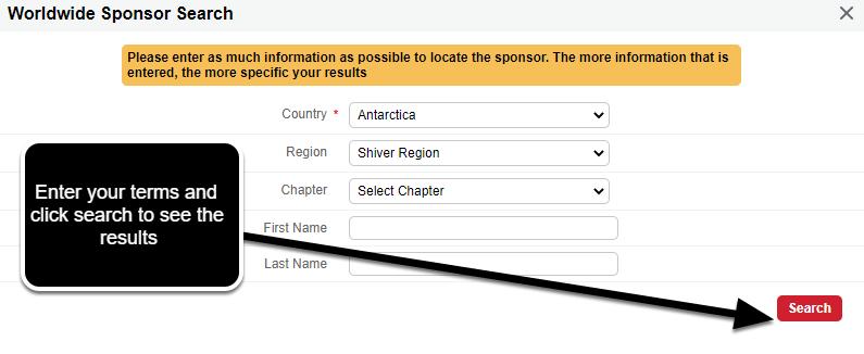 World Wide Sponsor Search