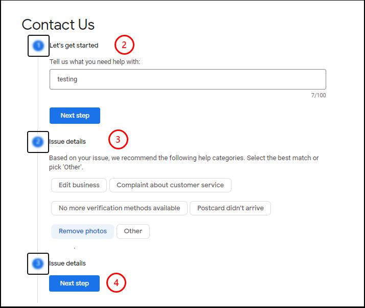 Contact Us - Google My Business Help - Google Chrome