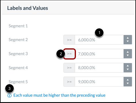 Set Segment Values