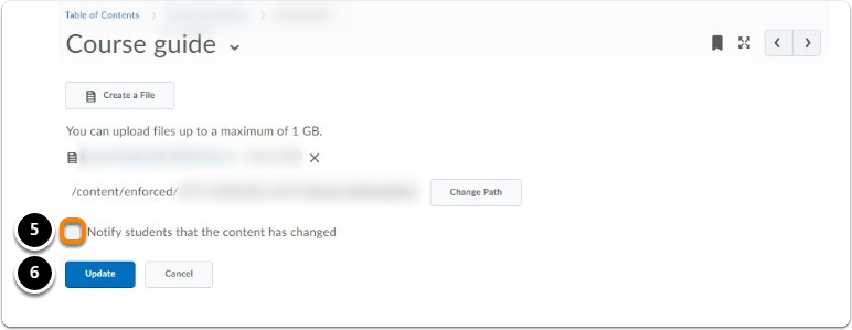 File change tab