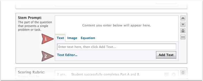 Open Element Text Editor