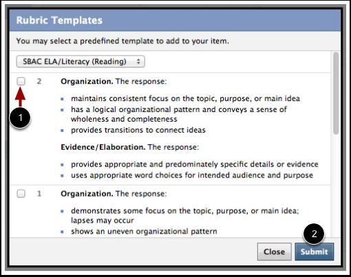 Use Rubric Templates