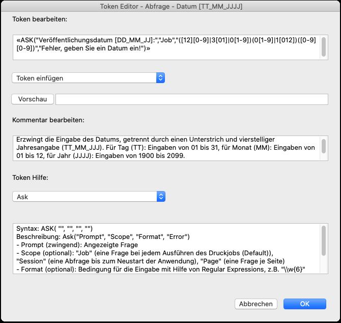 Token Editor - Abfrage - Datum [TT_MM_JJJJ]