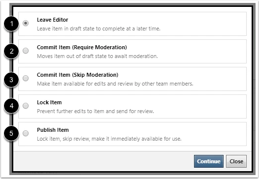 View Administrator Permissions Options
