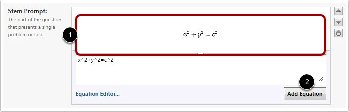 View Equation Preview