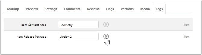 Removing a Tag Value