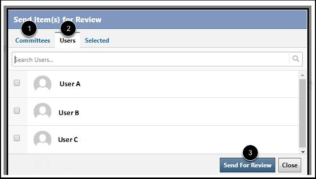 Send Item for Custom Review