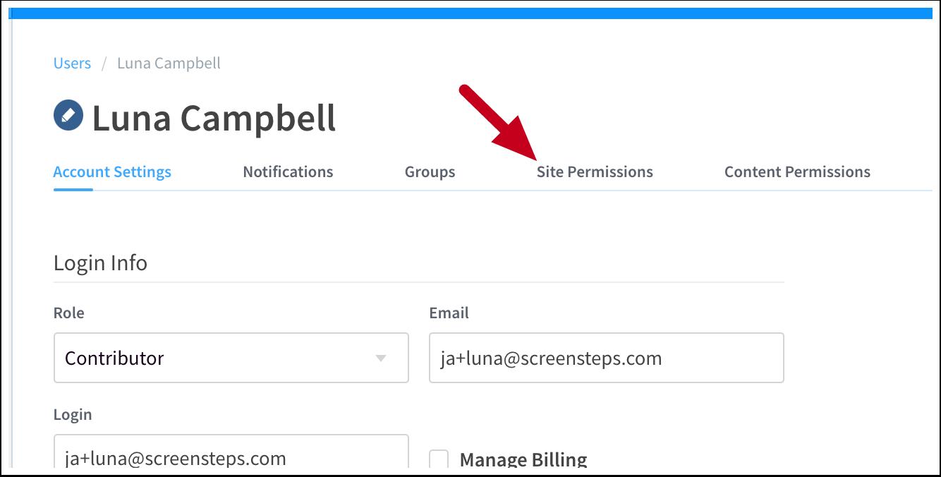 Account Settings | User | ScreenSteps