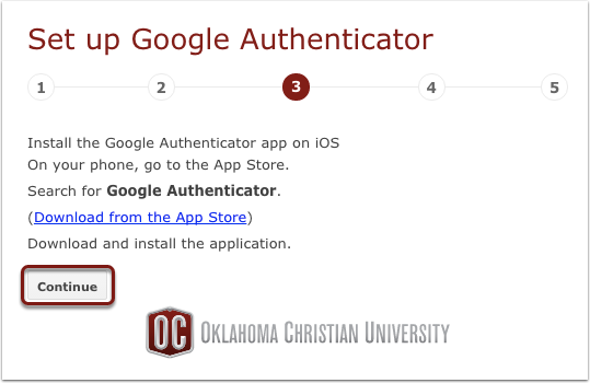 Install Google Authenticator (if applicable)