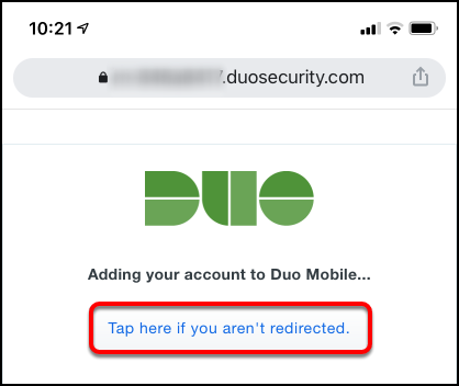 Duo web browser redirect
