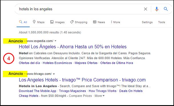 buscas de hotéis no Google - Google Search
