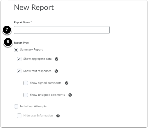 New Report homepage