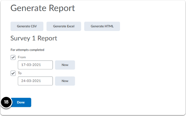 Generate Report - click on done