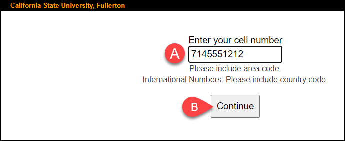 confirm cell phone and personal email