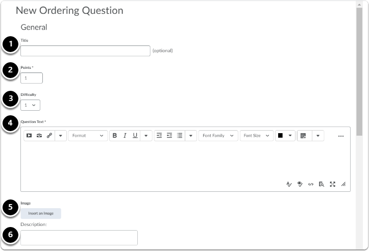 Ordering Question - General settings